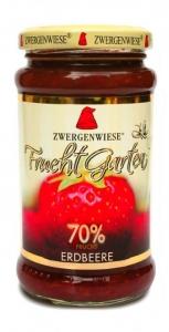 Mus Truskawkowy 70% owoców bezglutenowy BIO 225g ZWERGENWIESE