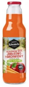 Sok Jabłkowy-marchwiowy butelka 750ml SADY WINCENTA