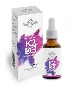 WITAMINA K2+D3 W KROPLACH (100mcg+2000IU) 30 ml - SOUL FARM