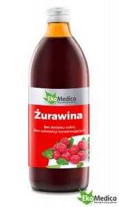EKAMEDICA ŻURAWINA 0.5L SOK 100%.