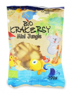 KRAKERSY MINI JUNGLE BIO 100 g - BIO ANIA