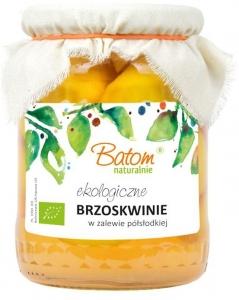 BRZOSKWINIA W ZALEWIE BIO 670 g - BATOM