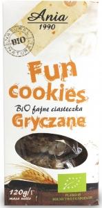 FUN COOKIES GRYCZANE BIO 120 g - BIO ANIA