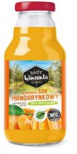 SOK MANDARYNKOWY BUTELKA 330ml - SADY WINCENTA