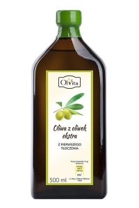 Oliwa z oliwek 500ml tłoczona na zimno Olvita