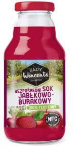 SOK JABŁKOWO-BURAKOWY BUTELKA 330ml - SADY WINCENTA