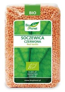SOCZEWICA CZERWONA BIO 500 g - BIO PLANET