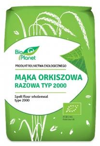 MĄKA ORKISZOWA RAZOWA TYP 2000 BIO 1 kg - BIO PLANET
