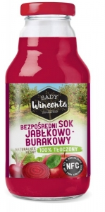 SOK 100% JABŁKOWO-BURAKOWY - SADY WINCENTA 750 ml