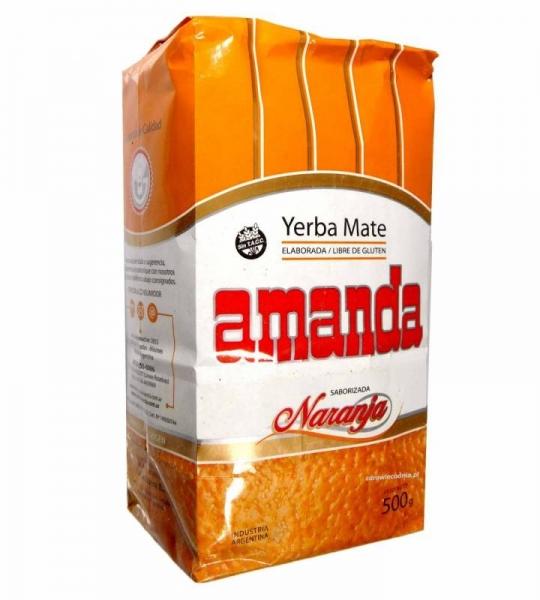 Yerba Mate Amanda pomarańczowa 500g