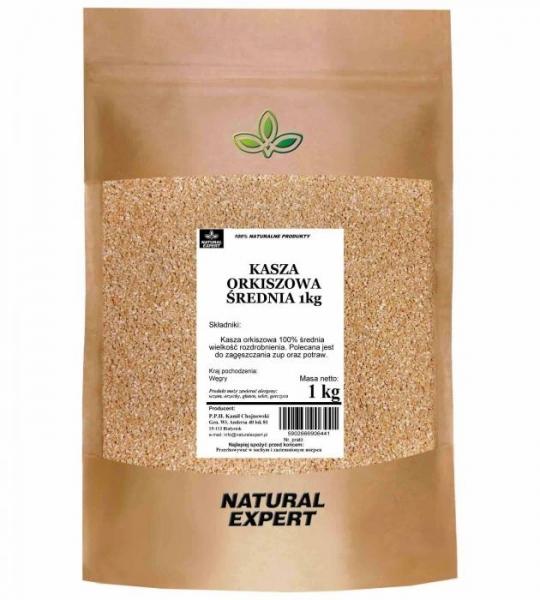 KASZA ORKISZOWA ŚREDNIA - NATURAL EXPERT