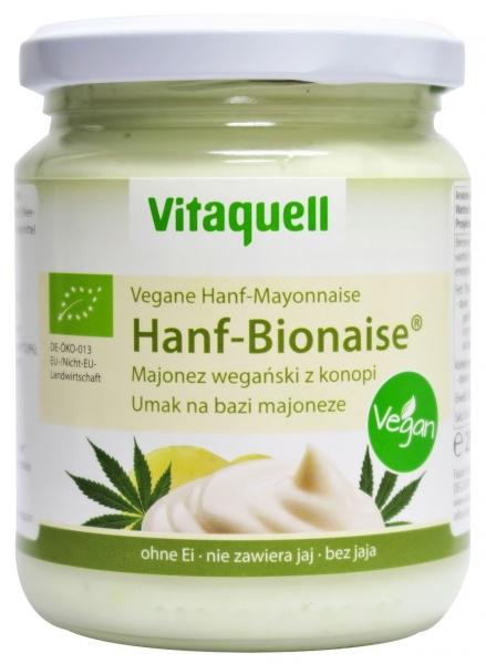 MAJONEZ WEGAŃSKI KONOPNY BIO 250 ml - VITAQUELL