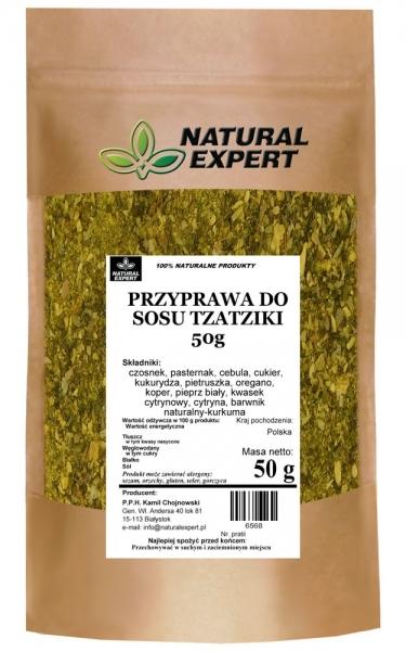 PRZYPRAWA DO SOSU TZATZIKI 50 g - NATURAL EXPERT