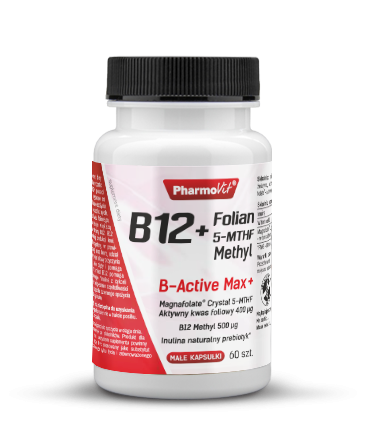 B12 + FOLIAN 5-MTHF Methyl 60kaps. - PHARMOVIT