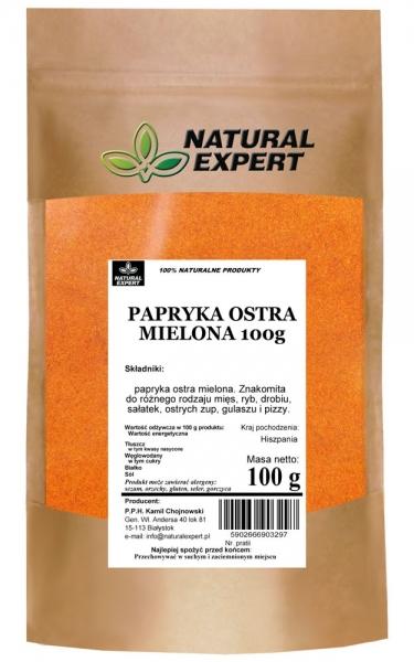 PAPRYKA OSTRA MIELONA 100 g - NATURAL EXPERT