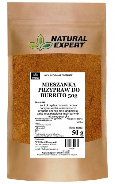 MIESZANKA PRZYPRAW DO BURRITO 50 g - NATURAL EXPERT